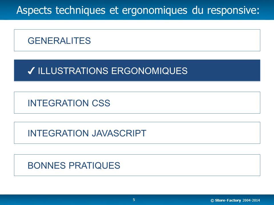Aspects techniques et ergonomiques du responsive:
