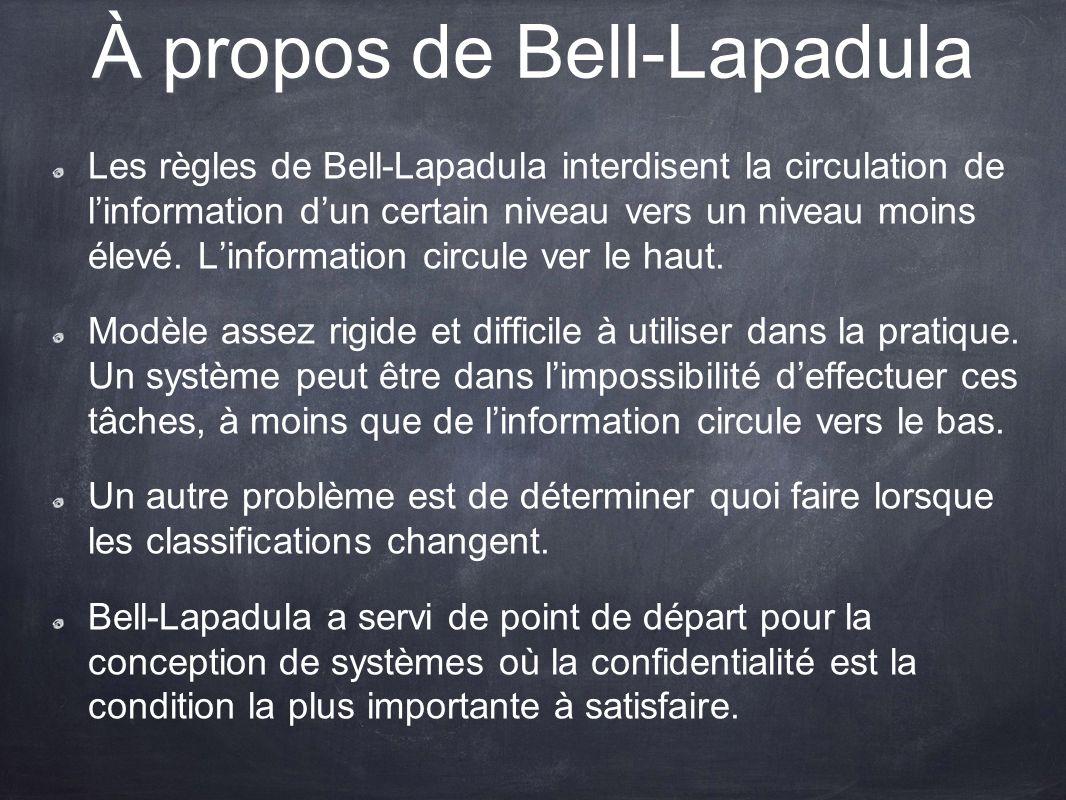 À propos de Bell-Lapadula