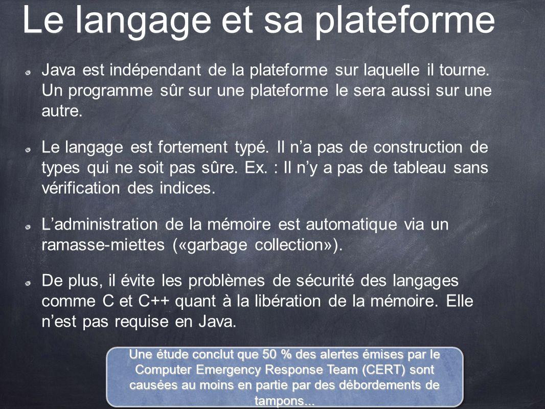 Le langage et sa plateforme