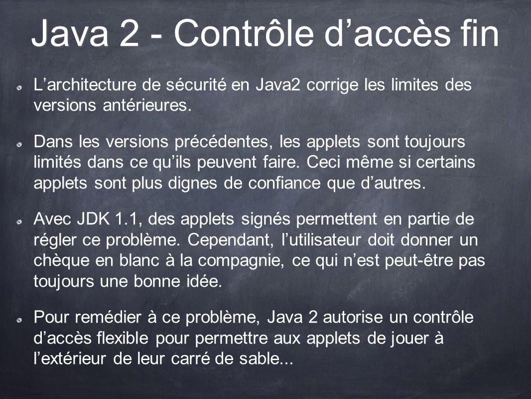 Java 2 - Contrôle d'accès fin