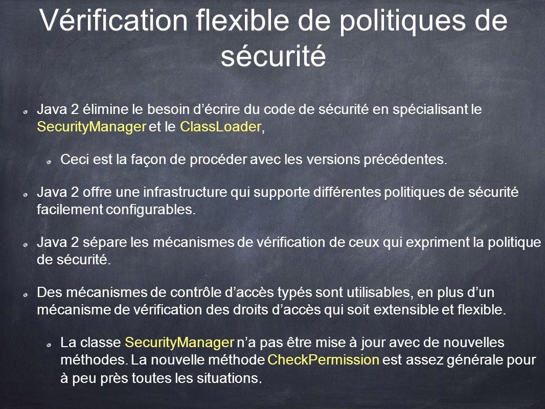 Vérification flexible de politiques de sécurité