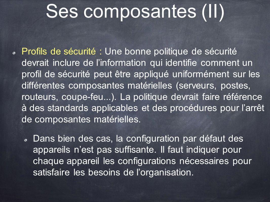 Ses composantes (II)