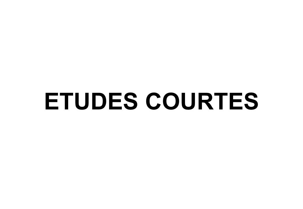 ETUDES COURTES 15