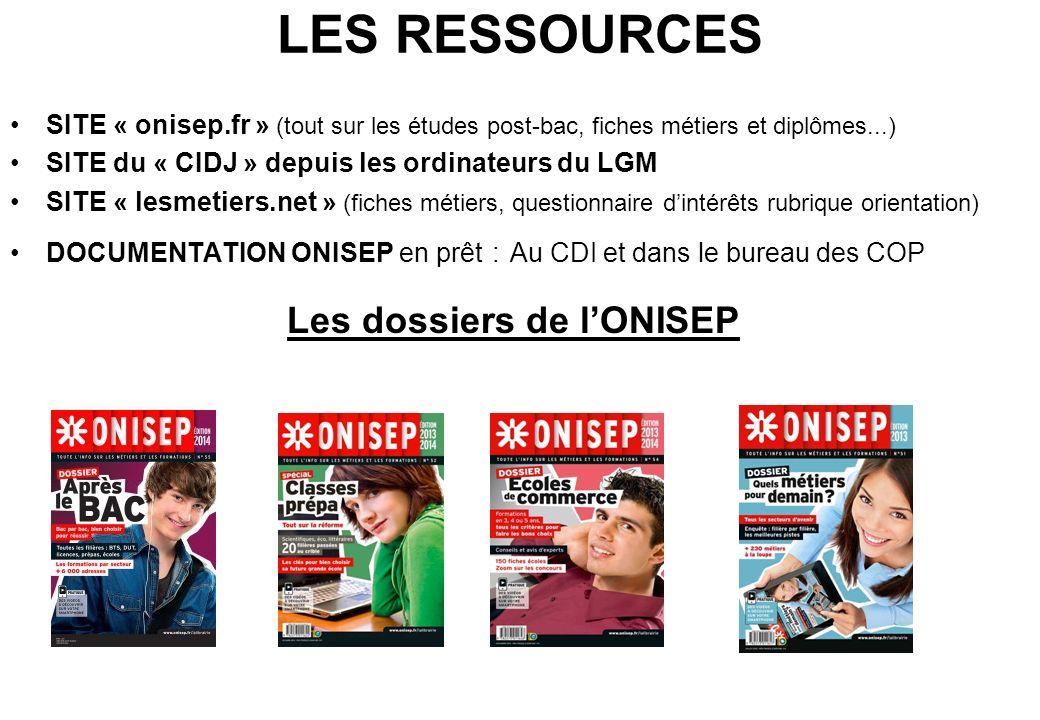 Les dossiers de l'ONISEP