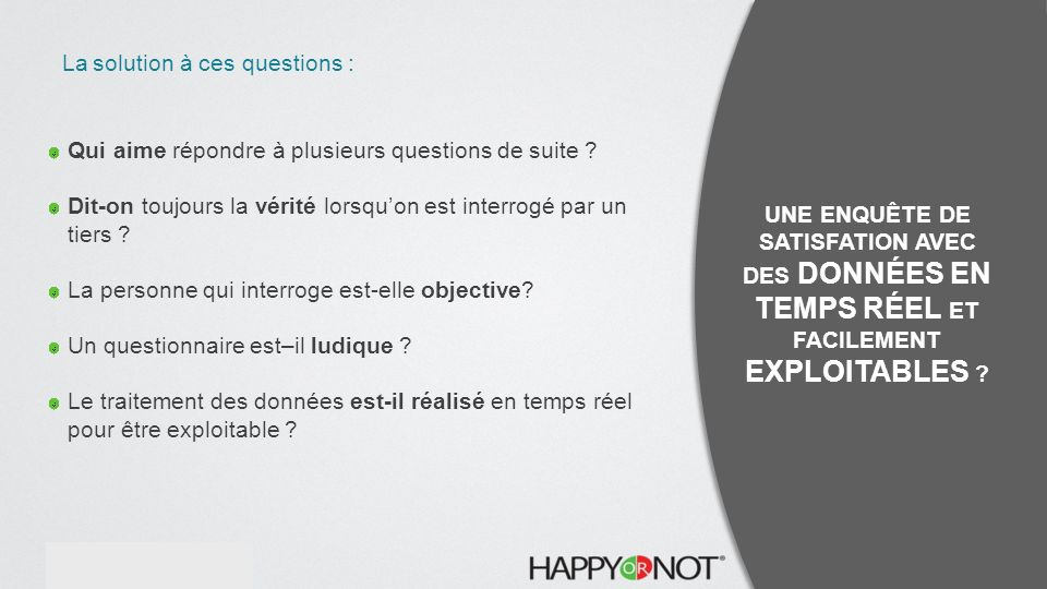 La solution à ces questions :