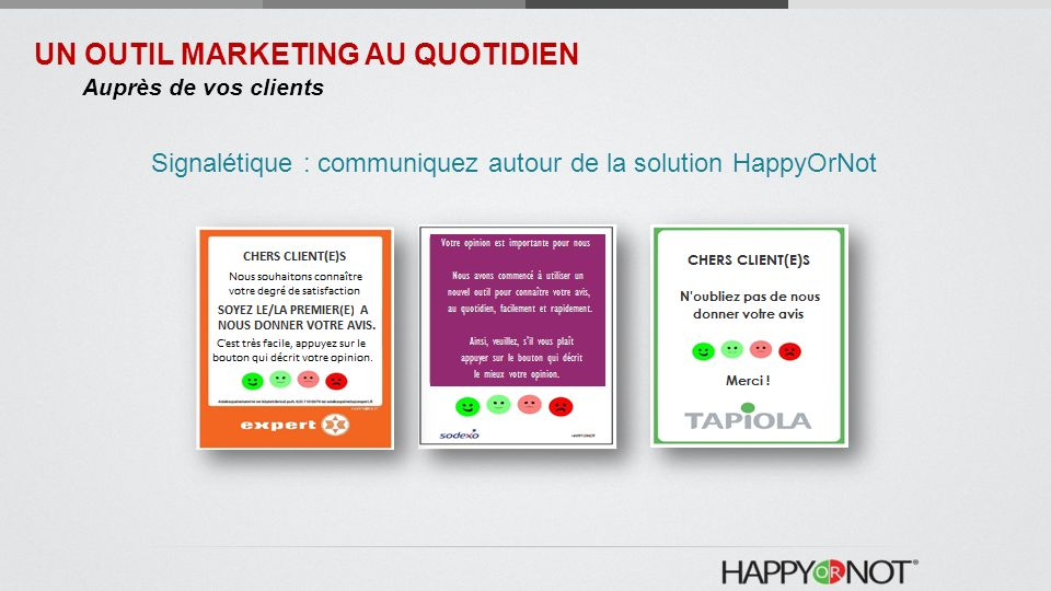 Signalétique : communiquez autour de la solution HappyOrNot