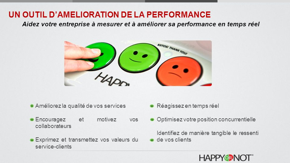 UN OUTIL D'AMELIORATION DE LA PERFORMANCE