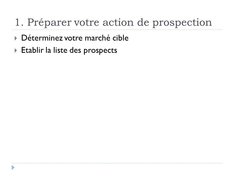 1. Préparer votre action de prospection