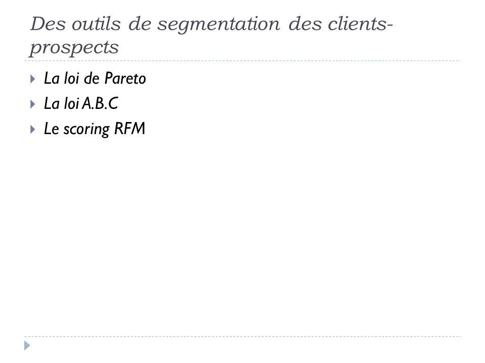 Des outils de segmentation des clients-prospects