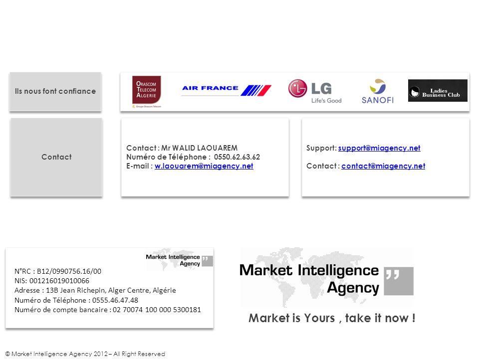Ils nous font confiance Market is Yours , take it now !