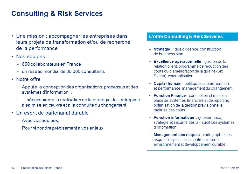Consulting & Risk Services