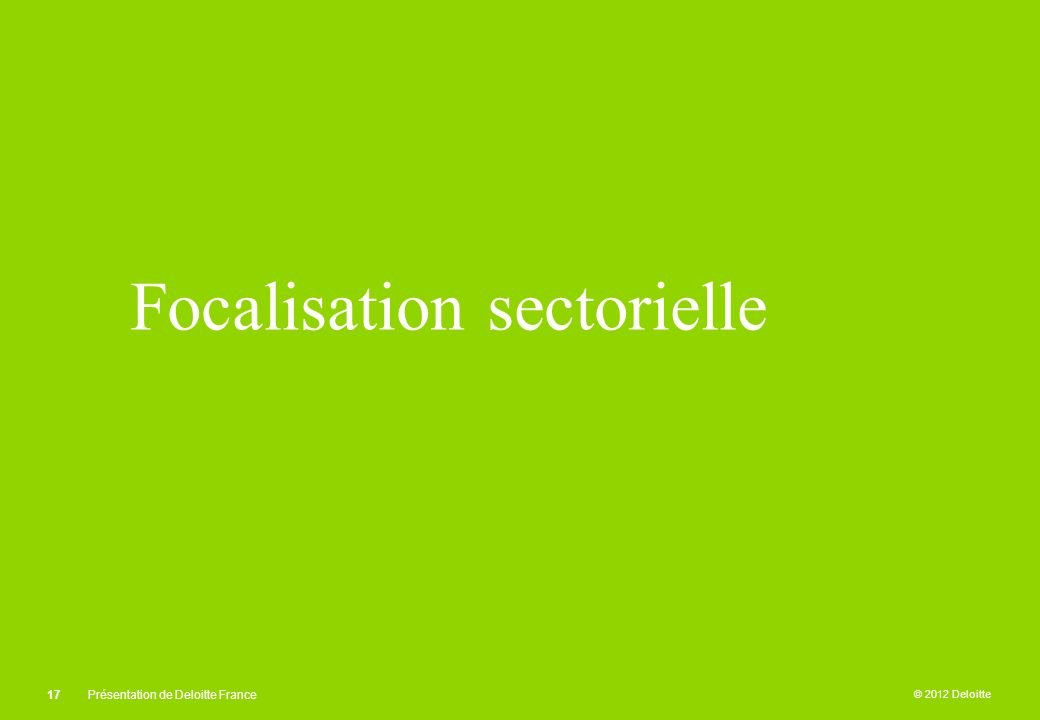Focalisation sectorielle