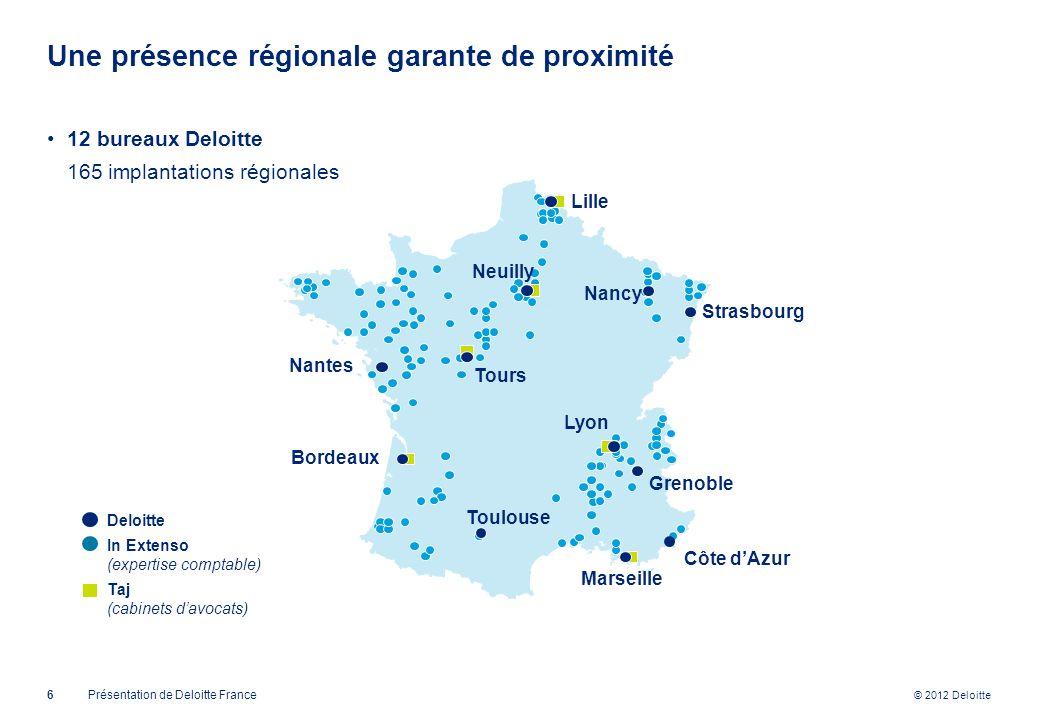 Une présence régionale garante de proximité