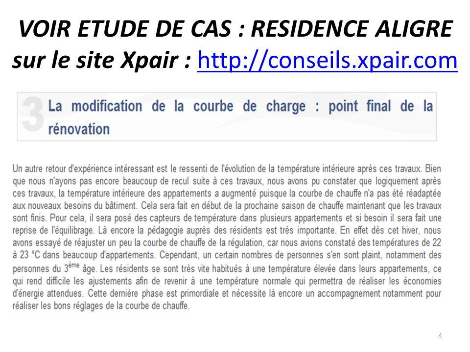 VOIR ETUDE DE CAS : RESIDENCE ALIGRE sur le site Xpair : http://conseils.xpair.com