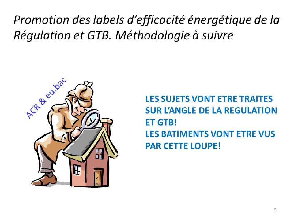 Promotion des labels d'efficacité énergétique de la Régulation et GTB