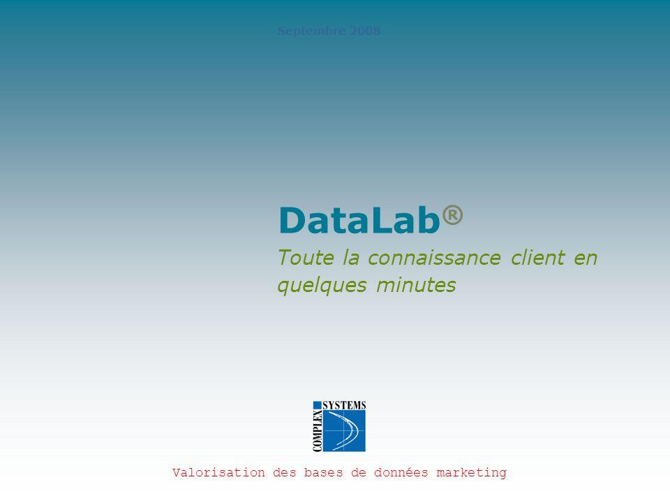 DataLab® Toute la connaissance client en quelques minutes