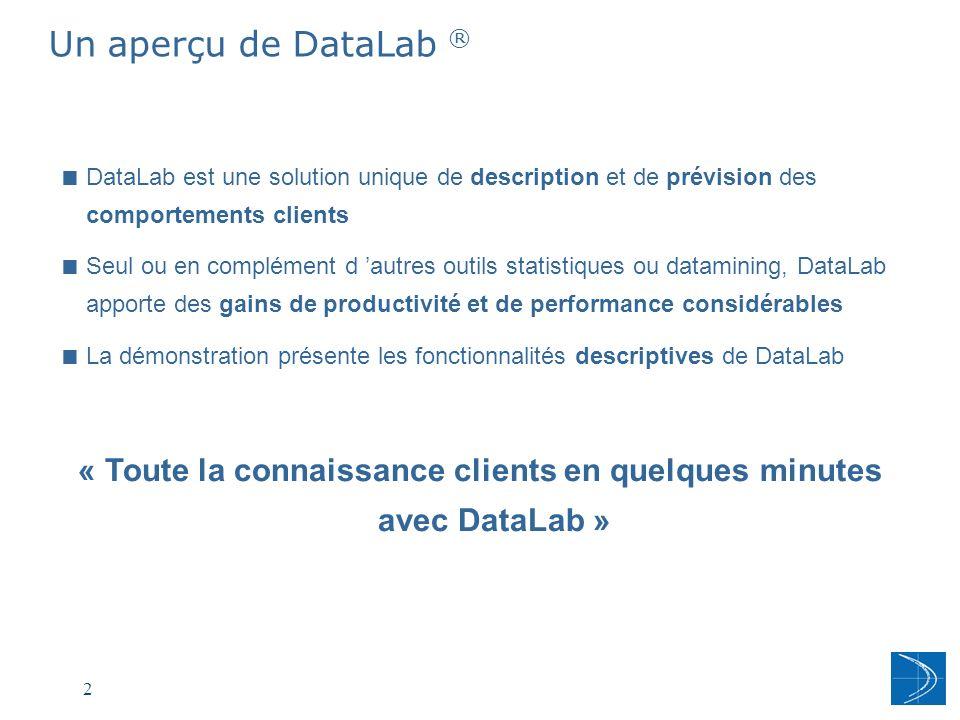 « Toute la connaissance clients en quelques minutes avec DataLab »