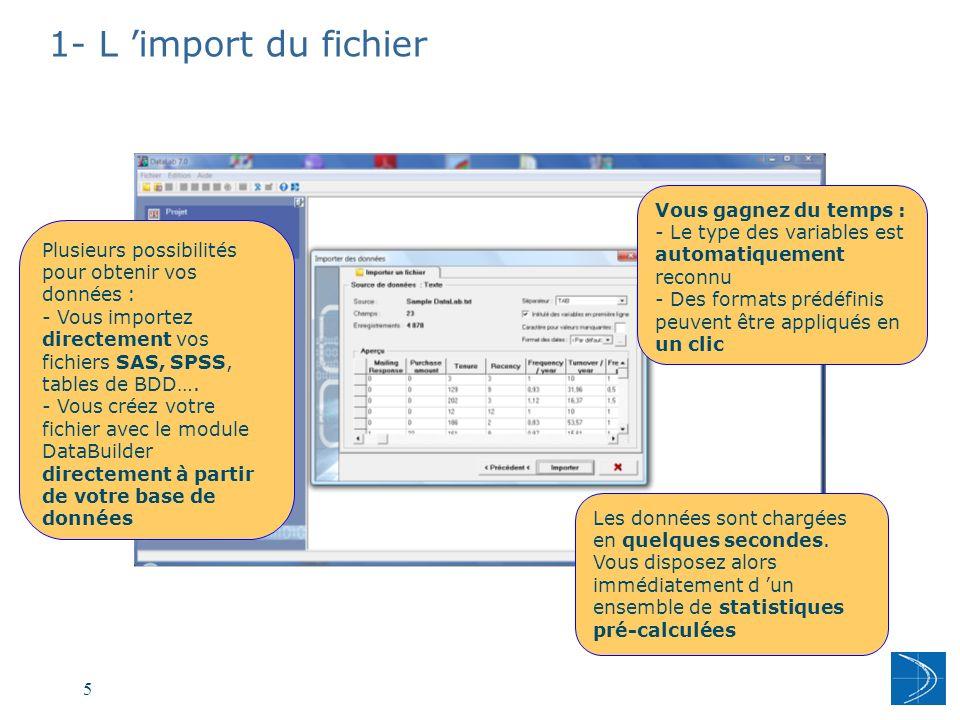 1- L 'import du fichier Vous gagnez du temps :