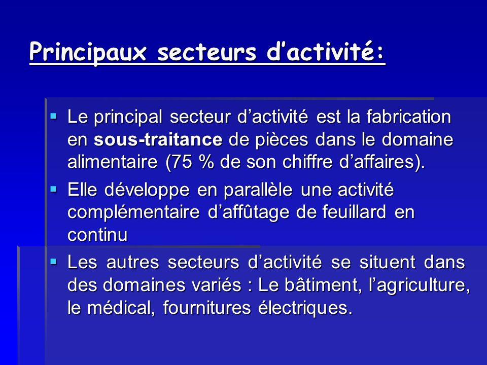 Principaux secteurs d'activité: