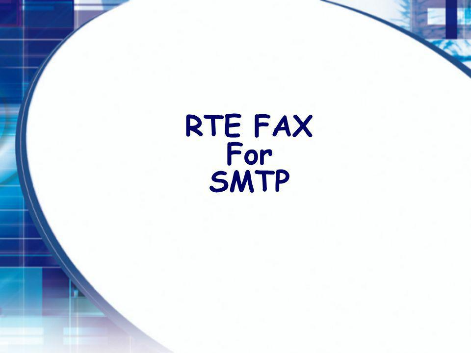 RTE FAX For SMTP
