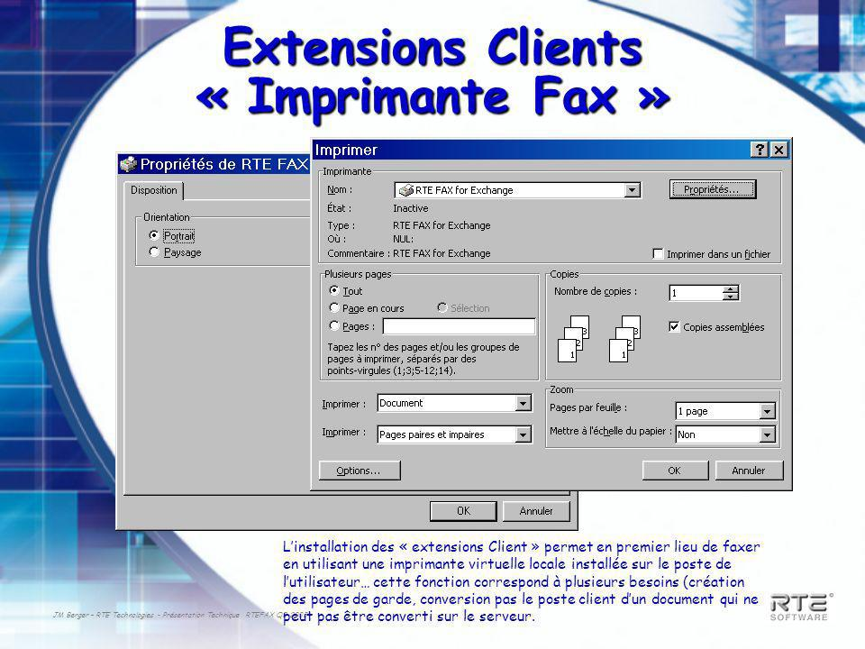 Extensions Clients « Imprimante Fax »