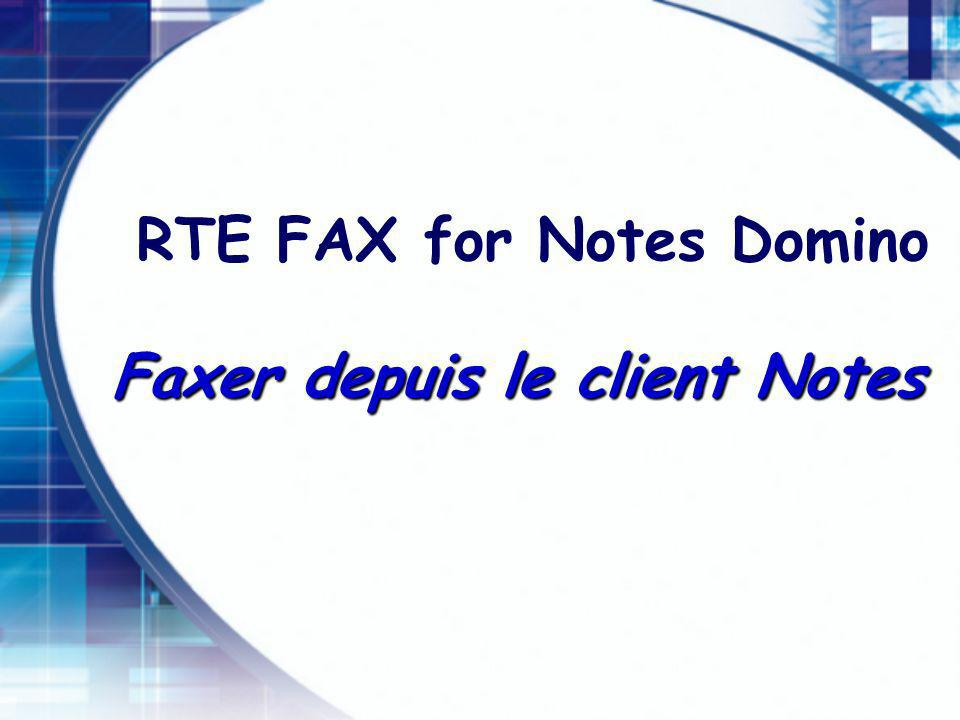 RTE FAX for Notes Domino