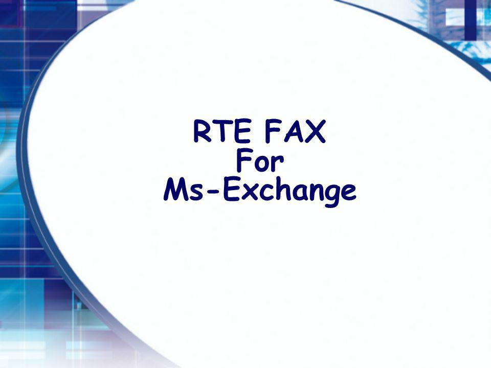 RTE FAX For Ms-Exchange