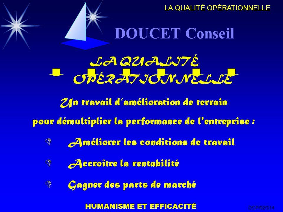 DOUCET Conseil LA QUALITÉ OPÉRATIONNELLE