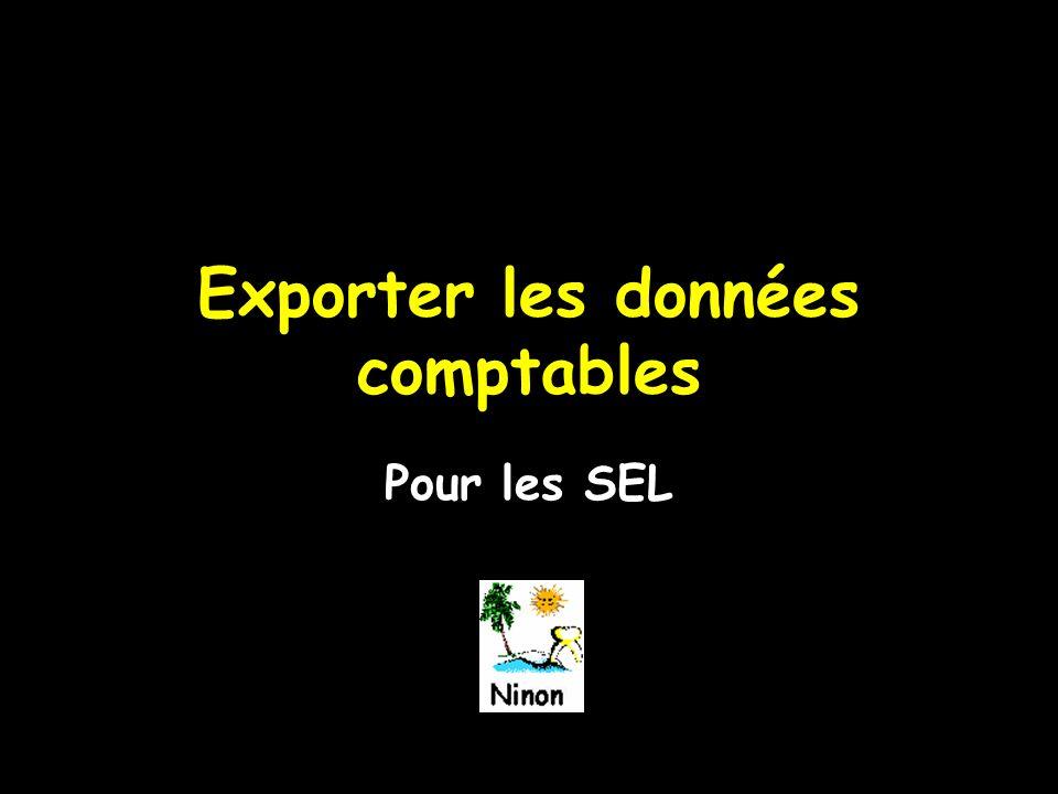 Exporter les données comptables