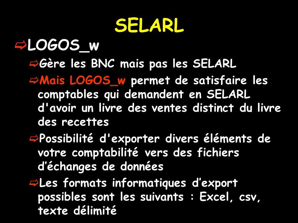 SELARL LOGOS_w Gère les BNC mais pas les SELARL
