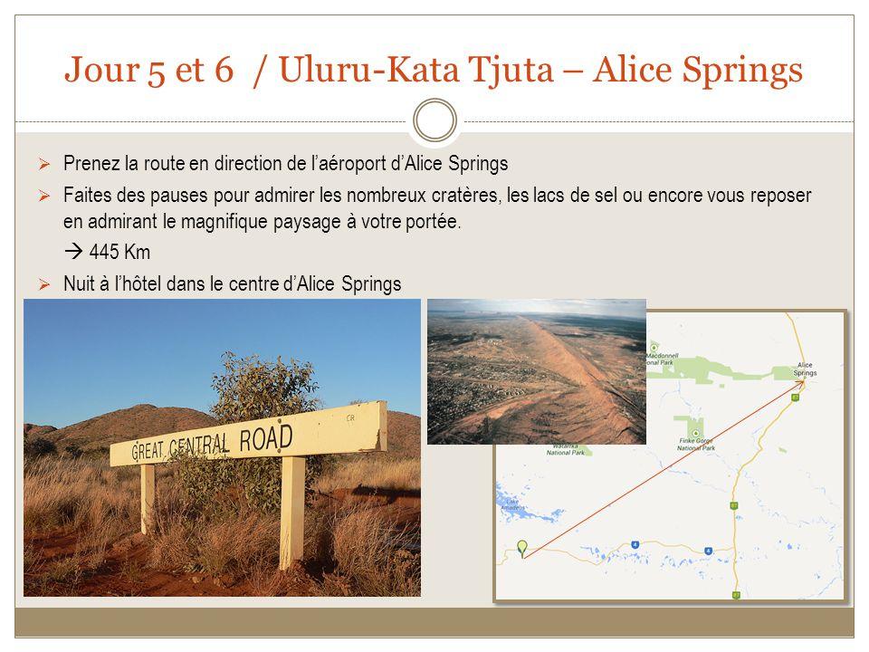 Jour 5 et 6 / Uluru-Kata Tjuta – Alice Springs