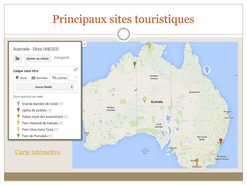 Principaux sites touristiques