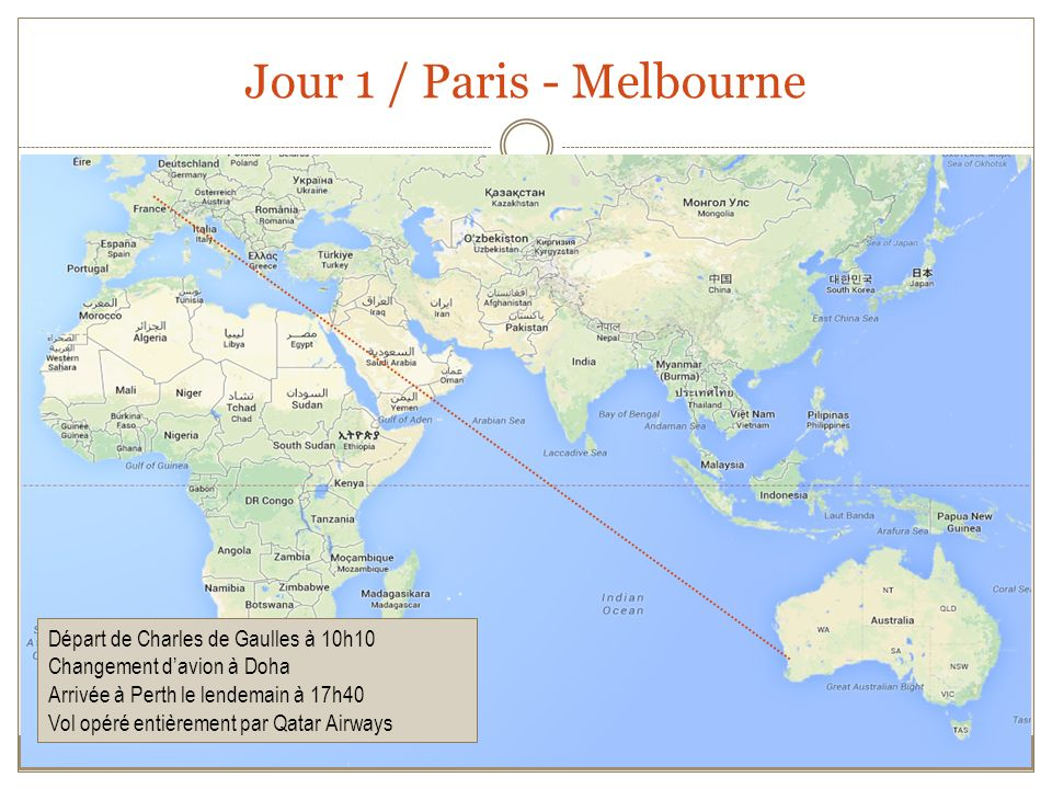 Jour 1 / Paris - Melbourne