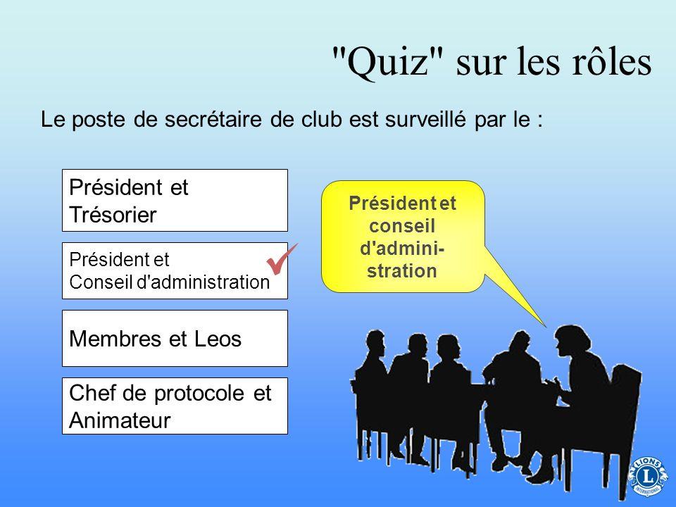 Président et conseil d admini-stration
