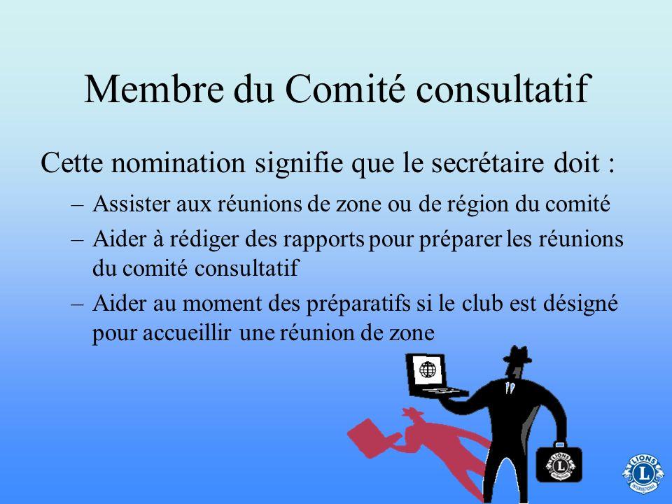 Membre du Comité consultatif