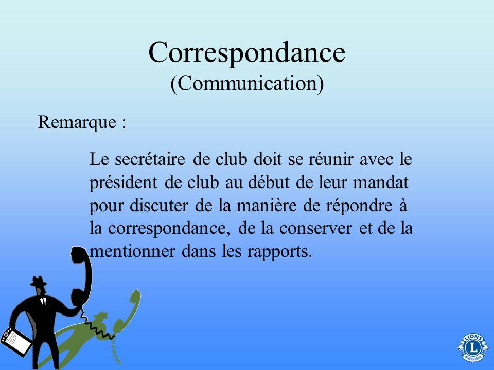 Correspondance (Communication)