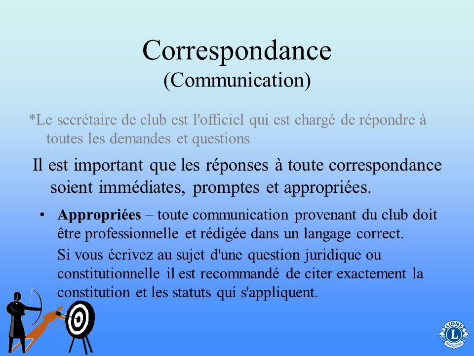 Correspondance (Communication)