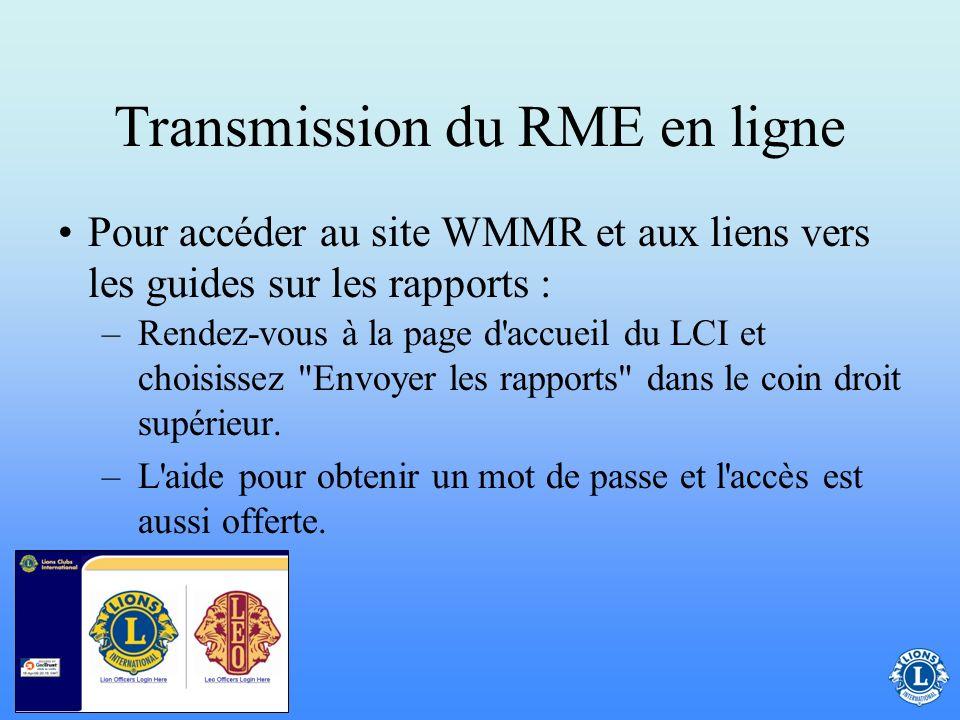 Transmission du RME en ligne