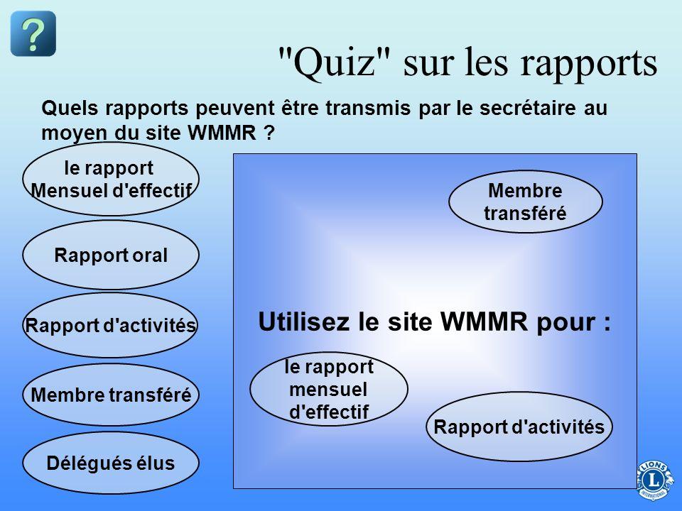 Utilisez le site WMMR pour :