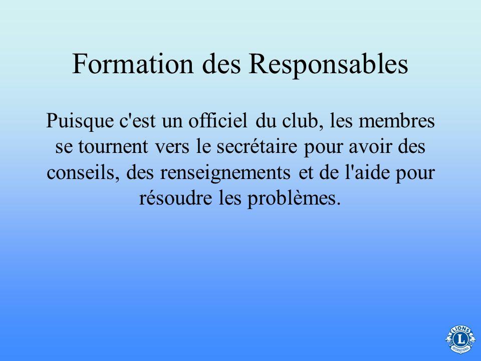 Formation des Responsables
