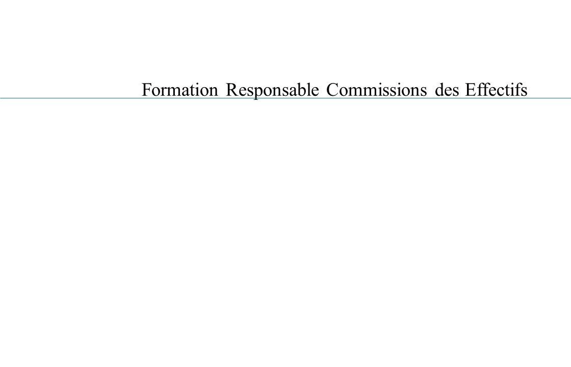 Formation Responsable Commissions des Effectifs