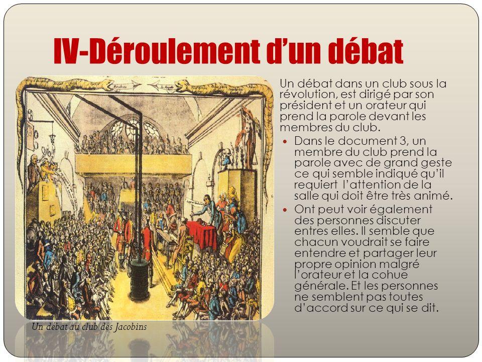IV-Déroulement d'un débat