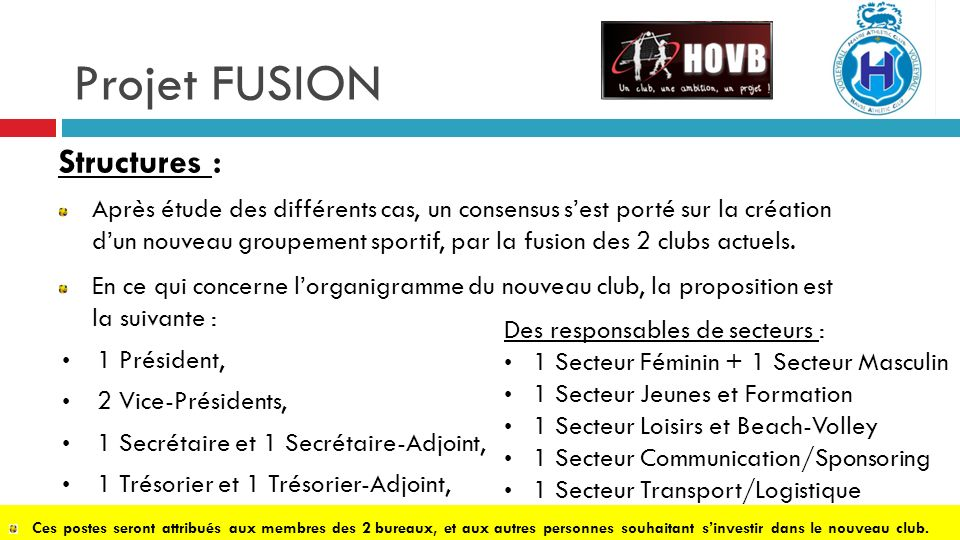 Projet FUSION Structures :