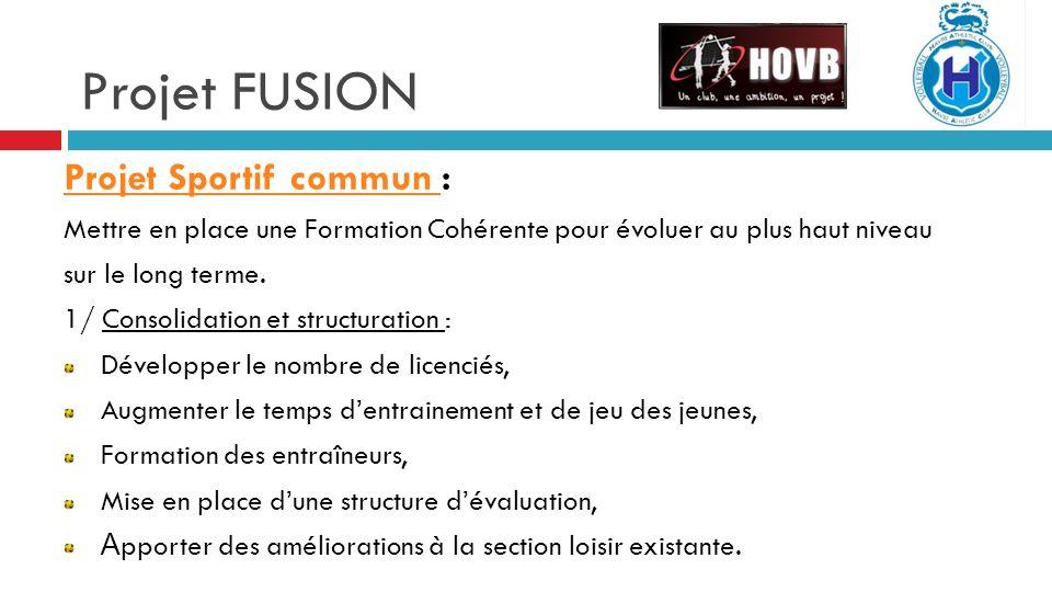 Projet FUSION Projet Sportif commun :