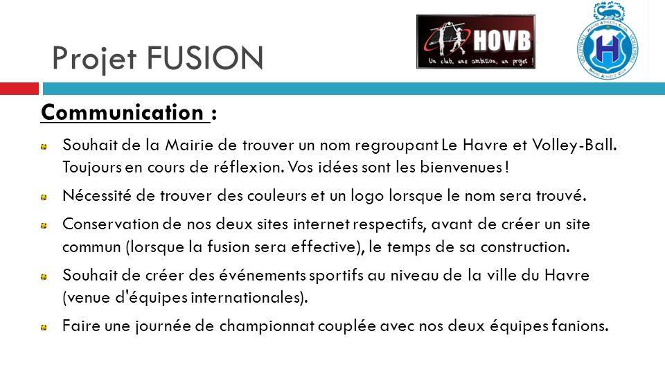 Projet FUSION Communication :