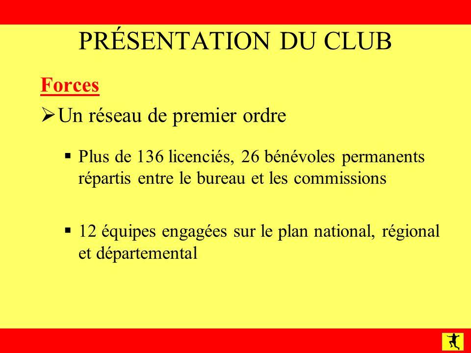 PRÉSENTATION DU CLUB Forces Un réseau de premier ordre
