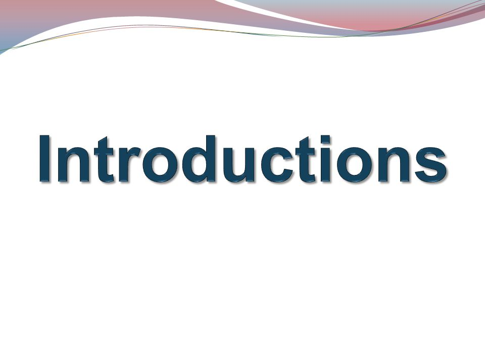 Introductions Take up to 15 Minutes for self Introductions. State clearly what you want to hear: