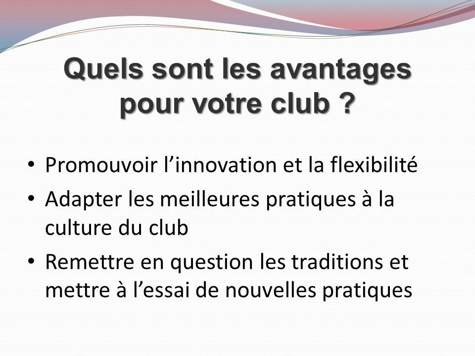 Quels sont les avantages pour votre club