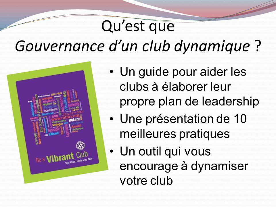 Gouvernance d'un club dynamique