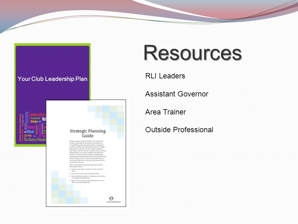 Your Club Leadership Plan